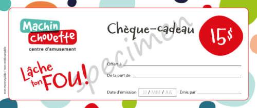 Chèque-cadeau ou certificat cadeau